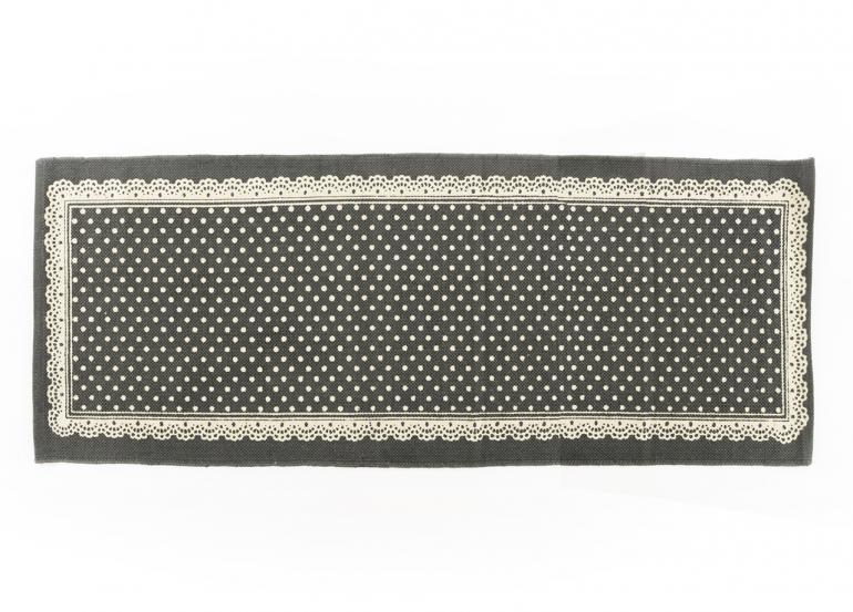 Tappeto da cucina in cotone modello pois grigio ebay - Tappeto da cucina ...