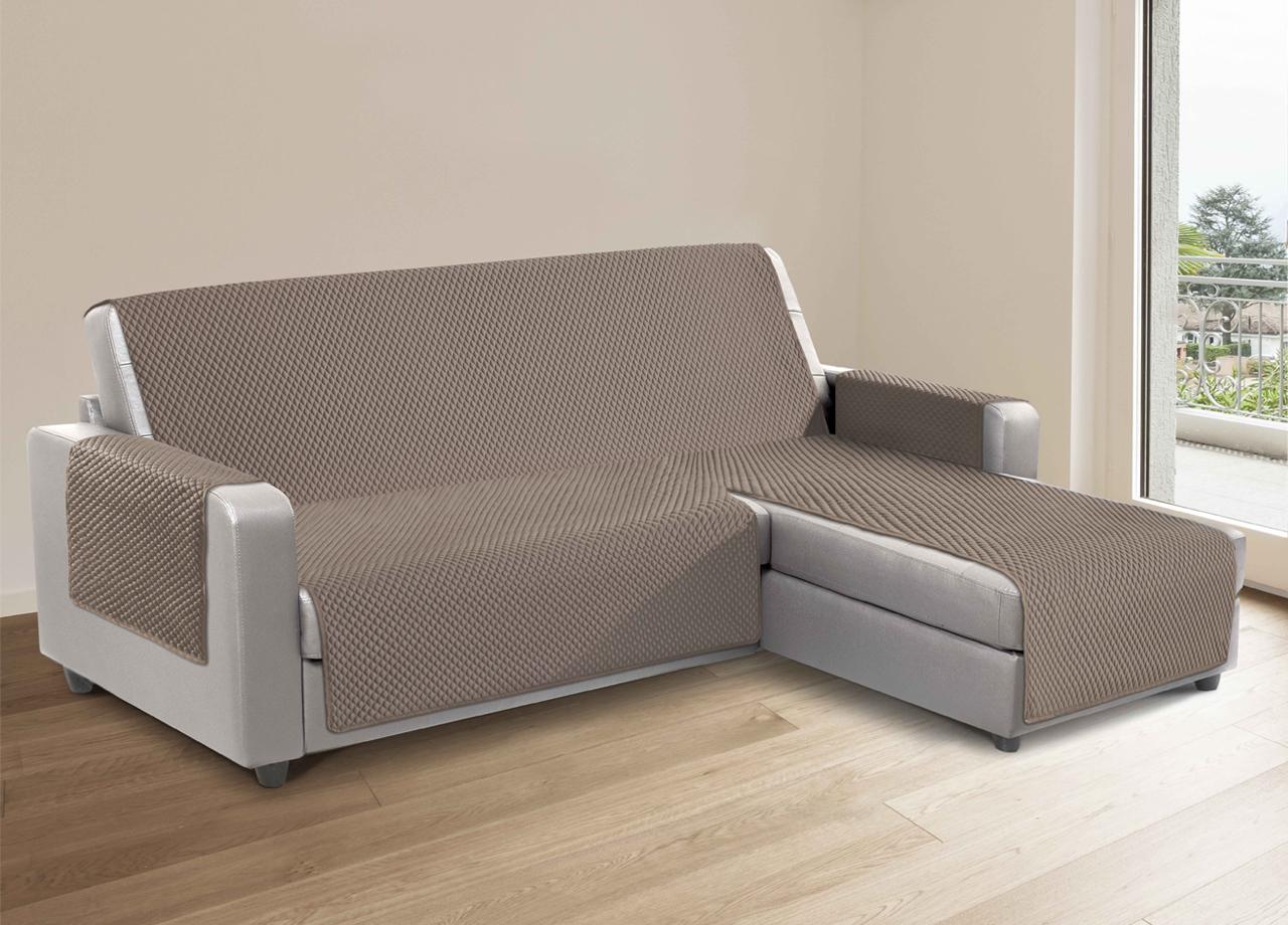 Composizione Del Colore Tortora dettagli su copridivano per divani con penisola lato sinistro mod. sphere  colore tortora